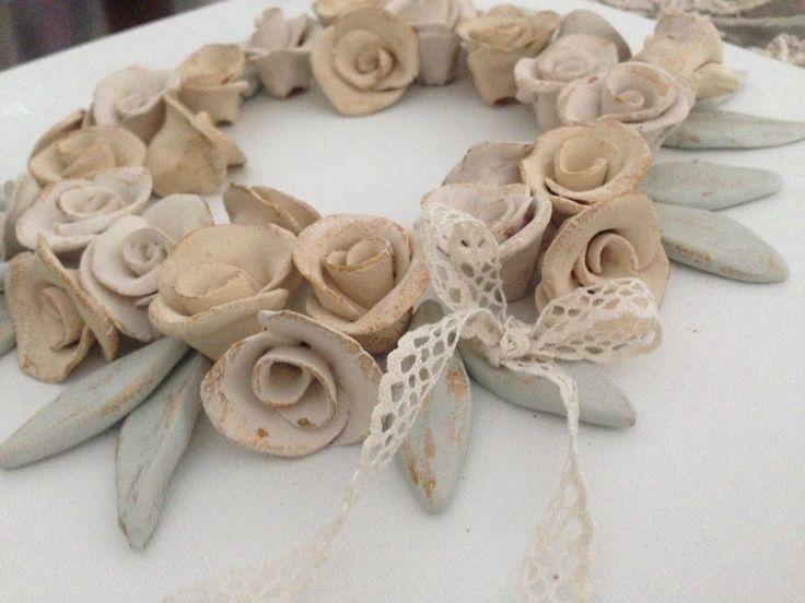 Στεφάνι απο πηλό - clay wreath