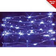 10' Blue Indoor Outdoor Battery Operated Christmas Lights 35264