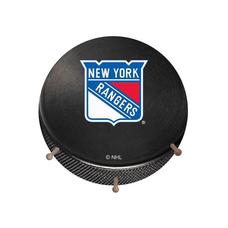 New York Rangers Hockey Puck Coat Hanger, Multicolor