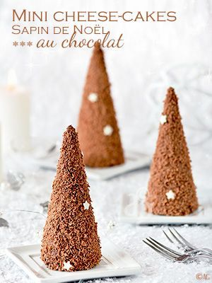 Mini cheesecakes Sapin de Noël au chocolat (sans cuisson) -