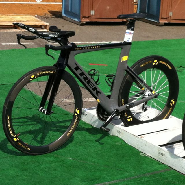 Lance Armstrong's Trek triathlon bike! #IM #Ironman #triathlon #cycling