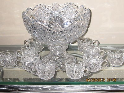 Vintage Hawkes Crystal Punch Bowl & Base....simply gorgeous!