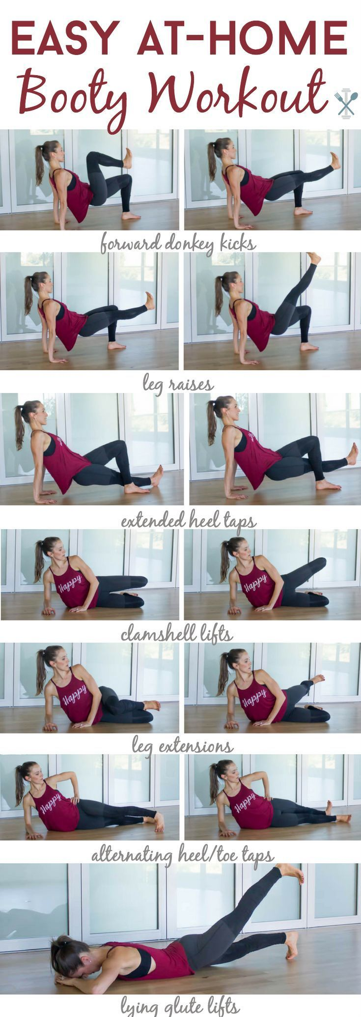 Easy Home Booty Workout – Inspiration and Fitness