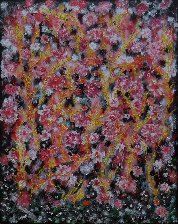 Rocky Flowers 80 x 100 - 450 euro