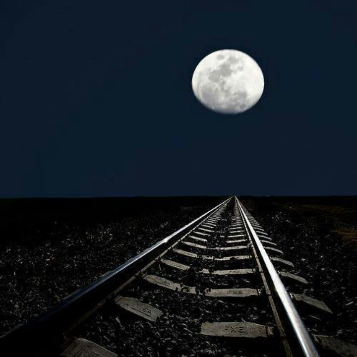 The Adhnighttrain: Day 28:Nighttime Train Tracks At Night