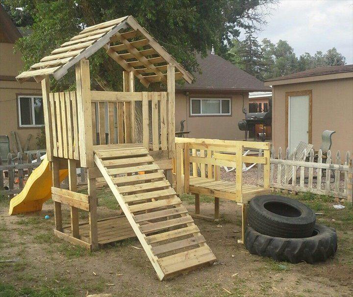 #Pallet #Playhouse - 12 DIY Creative Wood Pallet Ideas | 99 Pallets