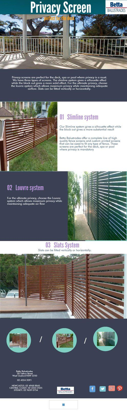 privacy-system BETTA BALUSTRADES by bettabalustrades