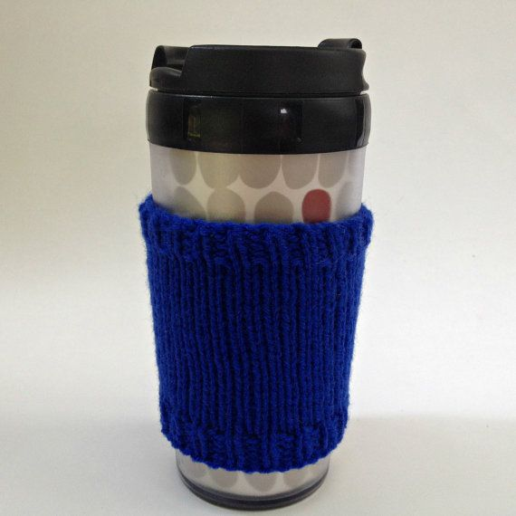 Coffee cozies, coffee cup sleeve, knit coffee cozy, knitted coffee cozy, coffee accessories, blue coffee mug, coffee sleeve, coffee cozy on Etsy, $15.00 CAD