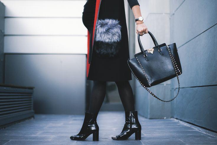Maxi chaleco con capucha Chaleco/Vest: Sammydress Vestido/Dress: Maminess Boina/Hat: H&M similar en Asos Reloj/Watch: Daniel Wellington Pulsera/Bracelet: Daniel Wellington Bolso/Bag: Valentino Rockstud Botas/Boots: Zara