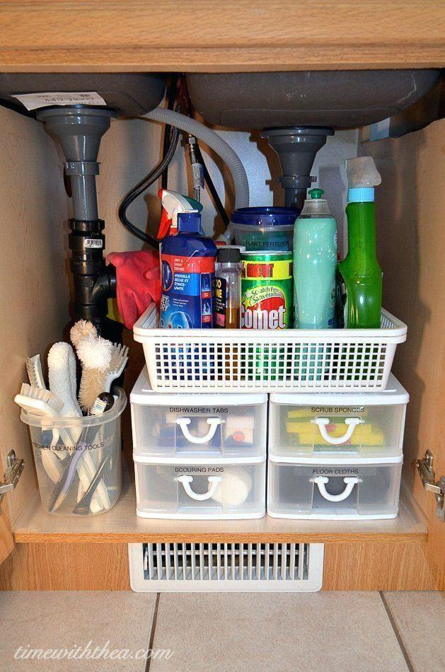 Under Sink Organization Ideas House A Under Sink Storage The Best Organizing Ideas Diy Kitchen Storage Kitchen Hacks Organization Kitchen Cabinet Organization