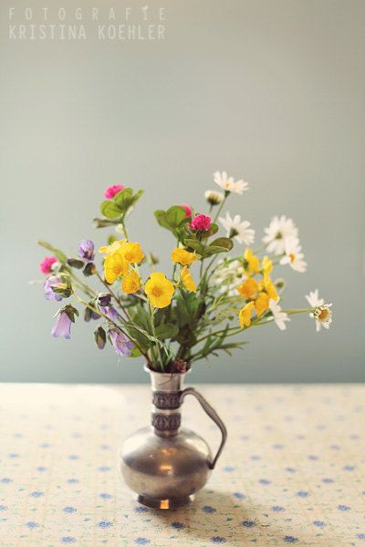 Happy Easter!  BOUQUET photography print wildflowers in a by FotografieKoehler