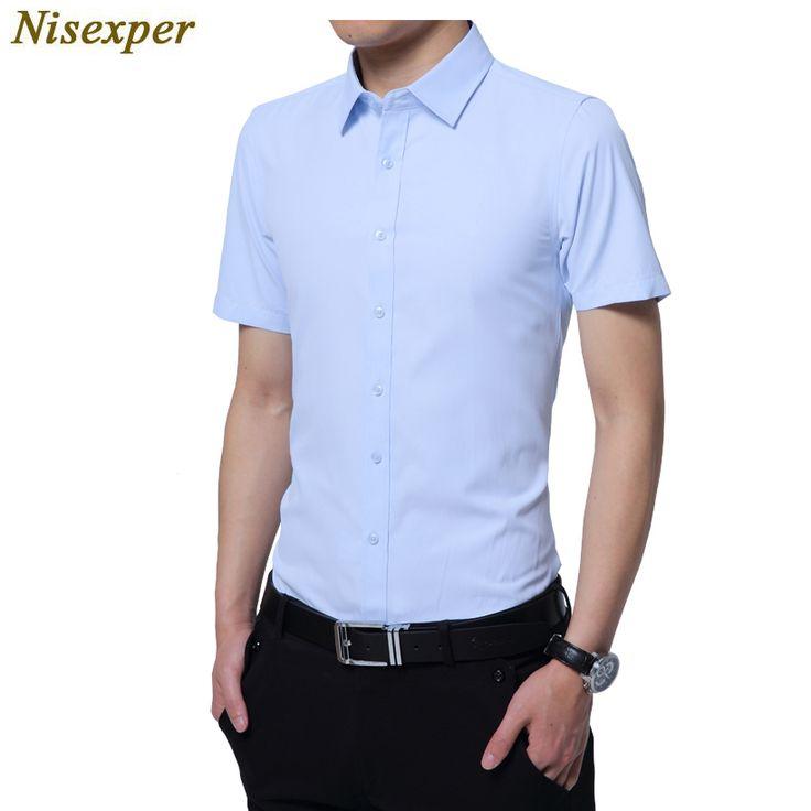 2017 nouvelle arrivée hommes de chemises à manches courtes  tournent vers le bas hommes chemises fashion business formelle coton hommes  chemise ...