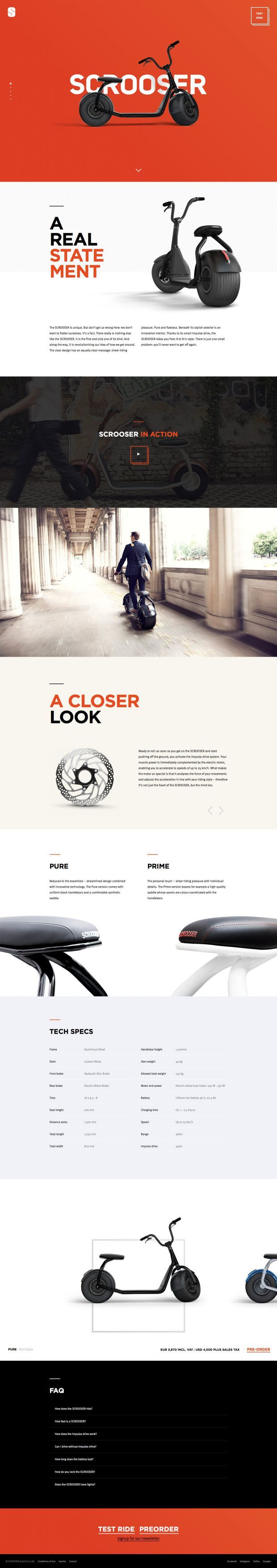 SCROOSER is real lifestyle. The SCROOSER is unique - Best Webdesign inspiration on www.niceoneilike.com #Product, #html5, #css3, #Inspiration, #Scrolling #Site, #Design, #Website, #Store, #Clean, #Unique