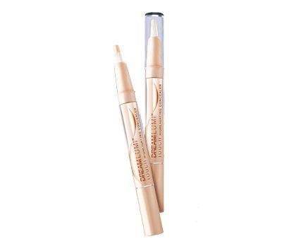 Maybelline Dream Lumi Touch Highlighting Concealer in the colour 'radiant.' A fantastic drugstore dupe for YSL Touche Eclat. Nice peachy-pink shade that brightens undereye area.