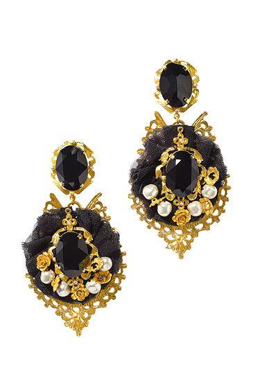 Shop the Trend: The BAZAAR Gold Standard - Dolce & Gabbana earrings