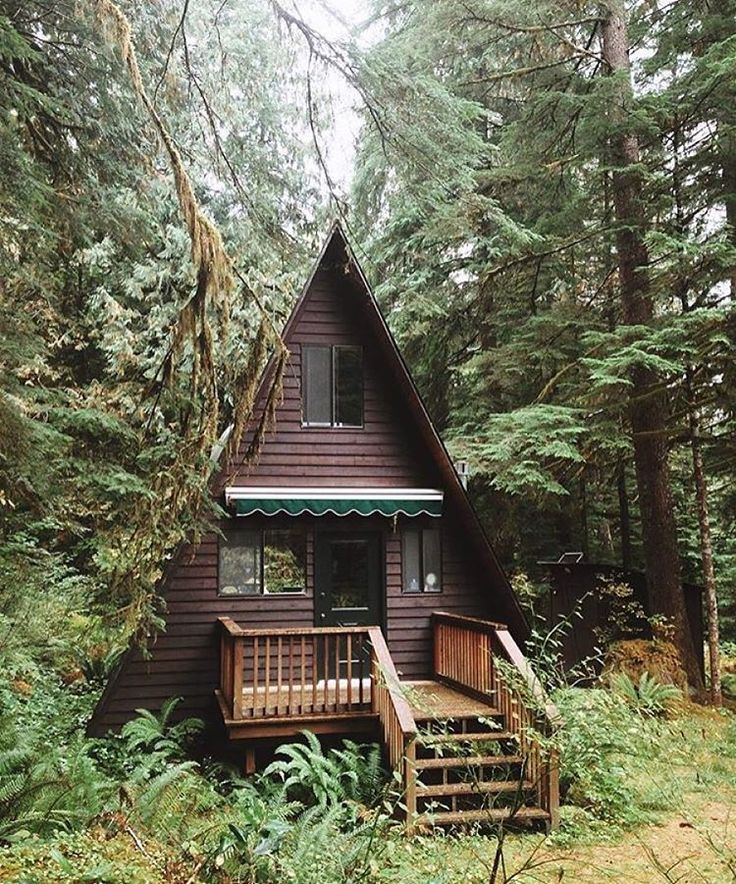 Log cabin home in the forest your everyday rest place for A frame log homes