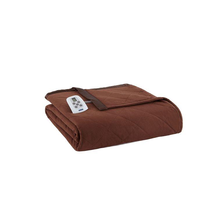 Micro Flannel® Electric Heating Blanket, Brown