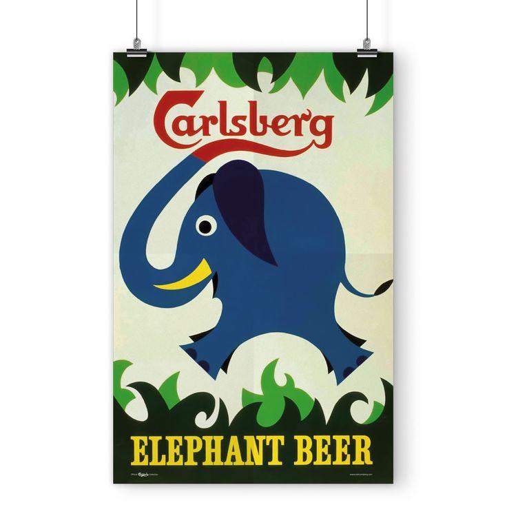 Carlsberg Elephant Poster