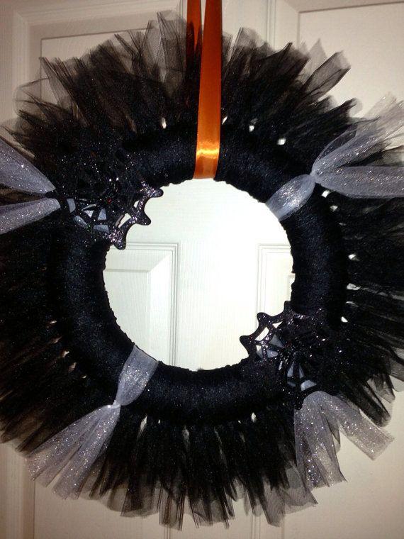 Halloween tulle wreath on Etsy, $30.00