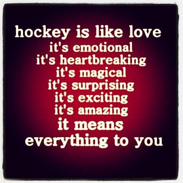 HOCKEY IS LOVE