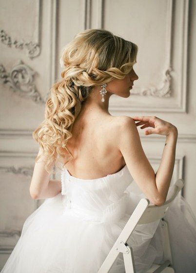 Long curls and backless dress #hot #sexy #hairstyles #hairstyle #hair #long #short #buns #updo #braids #bang #blond #wedding #style #haircut #bridal #curly #bride #celebrity #black #white #trend #bob #girl #pantyhose #stockings #bikini #legs