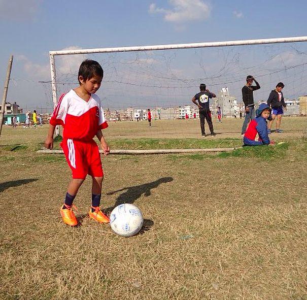Playing soccer in Nepal! #RestoreNepal