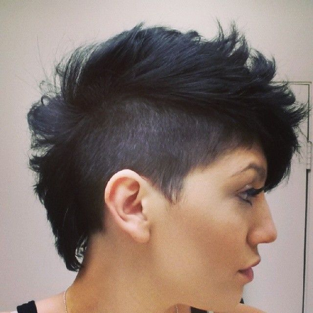 25+ best ideas about Black hair mohawk on Pinterest ... Undercut Mohawk