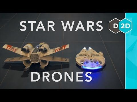 Millennium Falcon vs. X-Wing - Star Wars Drones Review - YouTube