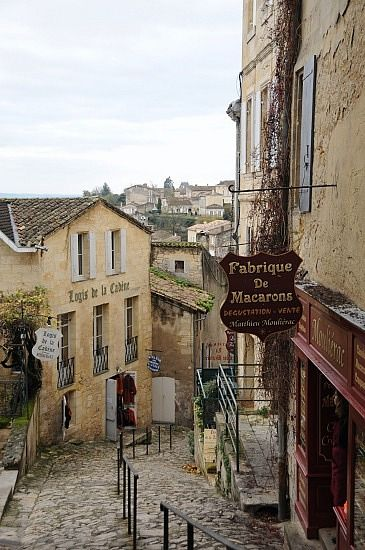 """""""Hilly streets of St Emilion"""" by TravelPod blogger everardt from the entry """"Oysters, foie gras, cheese, and wine"""" on Wednesday, December  3, 2008 in Bordeaux, France"""
