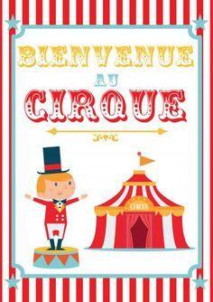 poster anniversaire cirque à imprimer
