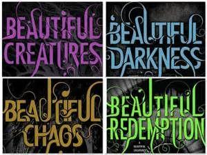 beautiful creatures book series -  good books, horrible movie, so sad!