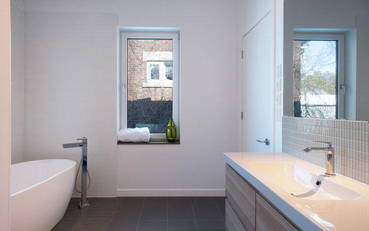 Guelph Deep Energy Retrofit - Master Bathroom | Passive Solar Design | Sustainable Building | Solares Architecture