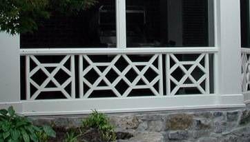 X Eye Chippendale Railing Design Porch Pinterest