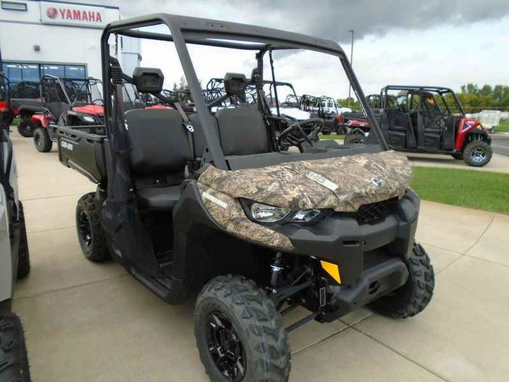 New 2016 Can-Am Defender DPS HD10 Mossy Oak Break-up Cou ATVs For Sale in Minnesota. 2016 Can-Am Defender DPS HD10 Mossy Oak Break-up Country Camo, Price good through 1/6/2017. Includes 3-year warranty! Moon Motorsports Can-Am Monticello MN 2016 Can-Am® Defender DPS HD10 COMFORT AND CONTROL Take control with the Defender DPS that features comfortable Dynamic Power Steering (DPS), lightweight wheels and tires, adaptable storage, Visco Lok and more to make your job easier. Features may…