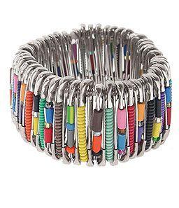 Bracelet avec des épingles de sûreté /  DIY : How to make Safety Pin Bracelet