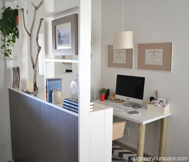 Diy Room Divider Made With Bookcases Home Office How To Living Ideas Storage