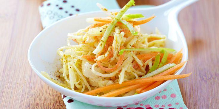 Salade rafraîchissante au chou blanc pomme et carotte