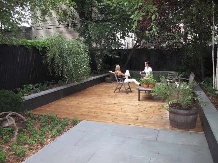 Brook landscape gardens brooklyn landscape design deck for Garden design brooklyn