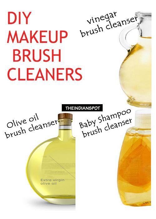 No harsh chemicals, cheaper, DIY makeup brush cleaners.
