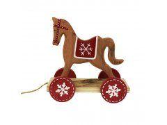 Dřevěný koník Vánoční zboží a dekorace - Vánoční dekorace