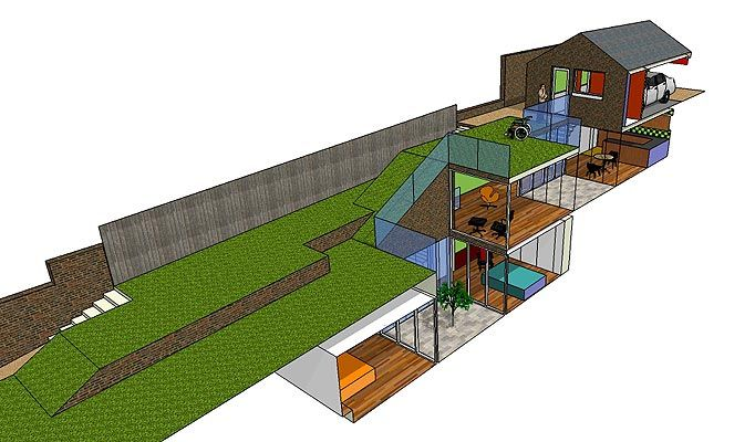 Underground house plans with good design on architecture for Underground garage design plans