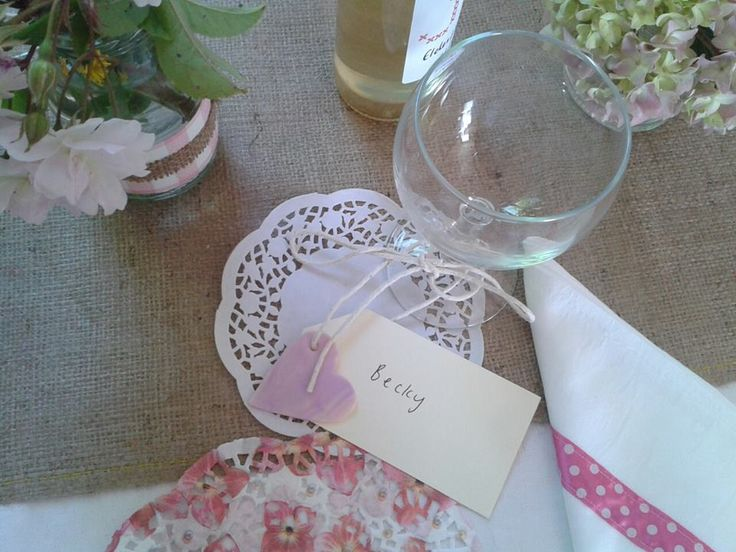 My wedding - Thurlestone 6/7/13  Place setting