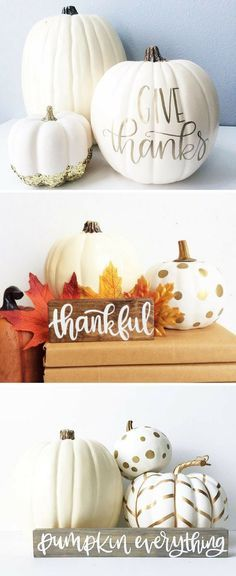 Thanksgiving Decorations | White Pumpkin Decor | Fall Decor | Autumn Decor #affiliatelink