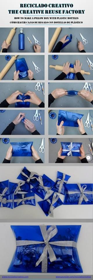 how to make a pillow box from plastic bottle