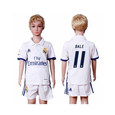 Děti Real Madrid 16-17 Gareth Bale 11 Domácí Krátký Rukáv #Fotbalové    #dresy  #levně