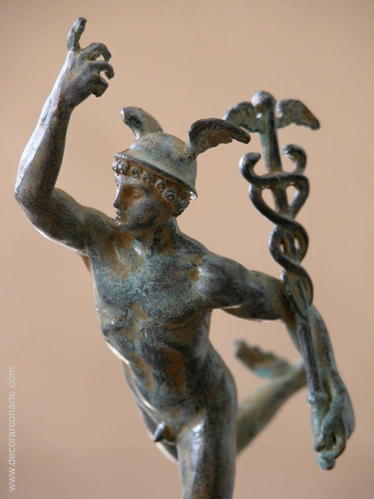 Figura de Hermes en Bronce. 15 cm.www.decorarconarte.com ...