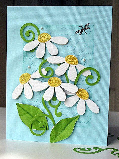 Tarjeta de flores y livelula