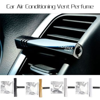 1pcs Perfume Air Freshener Fragrance Luxury Car Air Conditioning Vent Clip 4 Colors Free Shipping