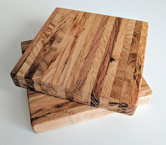 Pair of Wooden Coasters Square Coasters Large Coasters Big