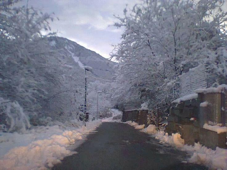 Prima neve a quote basse in val di susa (Rubiana) TO